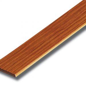 ไม้ระแนง เอสซีจี รุ่นลายไม้ประกายเงา ขนาด 7.5x300x0.8 ซม. สีสักทองประกายเงา