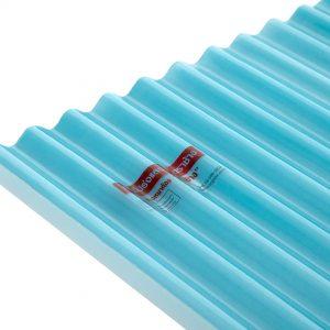 แผ่นโปร่งแสง เอสซีจี ลอนกันสาด105x200x0.12ซม.สีฟ้าน้ำทะเล
