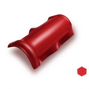 ครอบสันโค้ง ไฟเบอร์ซีเมนต์ เอสซีจี รุ่นลอนคู่ สีแดงประกายมุก