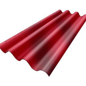 กระเบื้องหลังคาไฟเบอร์ซีเมนต์ เอสซีจี รุ่นโปรลอน 50x150x0.5 ซม. ประกายทับทิม