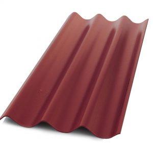 กระเบื้องหลังคาไฟเบอร์ซีเมนต์ เอสซีจี รุ่นเคิฟลอน (ความยาว 120 ซม.) แดงทอแสง