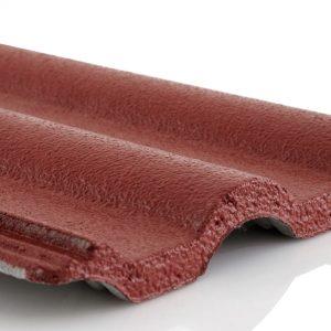กระเบื้องหลังคาคอนกรีต เอสซีจี รุ่นลอนมาตรฐาน สีแดงกุหลาบ