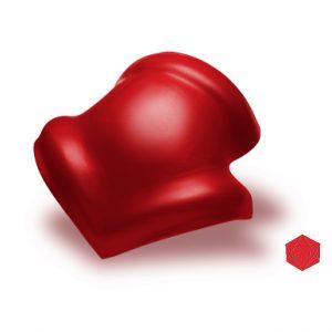 ครอบโค้ง 3 ทาง ไฟเบอร์ซีเมนต์ เอสซีจี รุ่นลอนคู่ สีแดงประกายมุก