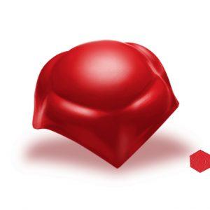 ครอบโค้ง 4 ทาง ไฟเบอร์ซีเมนต์ เอสซีจี รุ่นลอนคู่ สีแดงประกายมุก