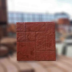 แผ่นคอนกรีตพิมพ์ลายพรีเมี่ยม ลายหินเนื้อสาม สีแดง