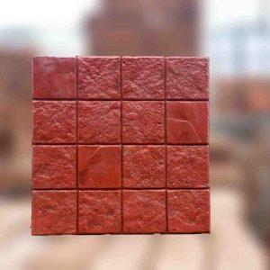 แผ่นคอนกรีตพิมพ์ลายพรีเมี่ยม ลายคอบ16 สีแดง