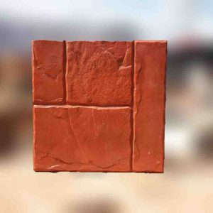 แผ่นคอนกรีตพิมพ์ลายพรีเมี่ยม ลายมายาร็อค สีแดง