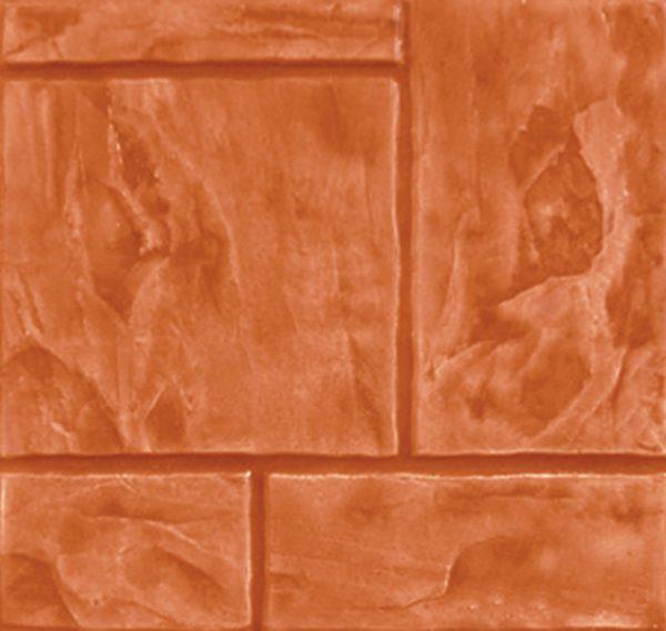 แผ่นทางเดินเอสซีจี รุ่น Stamp Pave ลายเอเทนส์ สีส้ม