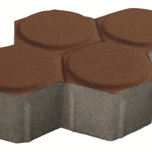บล็อกปูพื้น เอสซีจี รุ่น Dywidag ขนาด 18.8 x 23.4 x 6 ซม. สีน้ำตาล