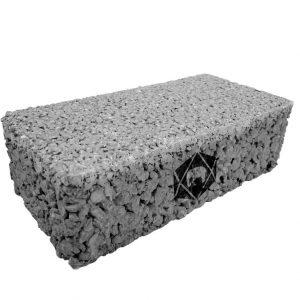 บล็อกปูพื้น เอสซีจี รุ่น Porous Block 10x20x6 ซม. สีเทา