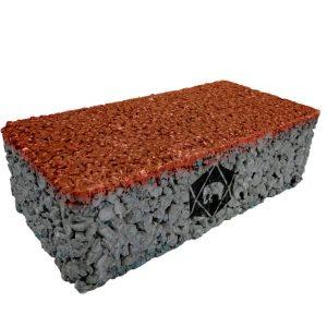 บล็อกปูพื้น เอสซีจี รุ่น Porous Block 10x20x6 ซม. สีส้ม