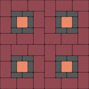 บล็อกปูพื้น เอสซีจี รุ่น Cobble Stone 6 ซม. - ลาย CB 12 (*6 ซม)