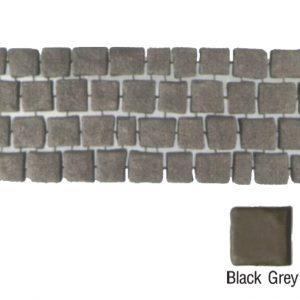 แผ่นทางเดินเอสซีจี รุ่น Carpet Stone สี่เหลี่ยม ผิวเรียบ สีแบล็คเกรย์ 38x92x2 ซ.ม.