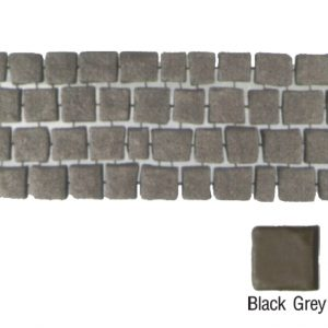 แผ่นทางเดินเอสซีจี รุ่น Carpet Stone สี่เหลี่ยม ผิวพ่น สีแบล็คเกรย์ 38x92x2 ซ.ม.