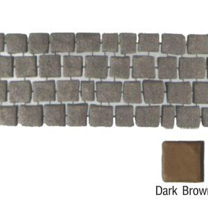 แผ่นทางเดินเอสซีจี รุ่น Carpet Stone สี่เหลี่ยม ผิวพ่น สีดาร์คบราวน์ 38x92x3.5 ซ.ม.