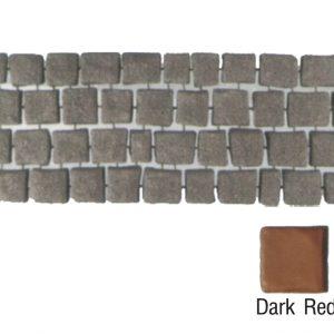 แผ่นทางเดินเอสซีจี รุ่น Carpet Stone สี่เหลี่ยม ผิวพ่น สีดาร์คเรด 38x92x2 ซ.ม.