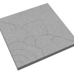 บล็อกปูพื้น เอสซีจี รุ่น La Linear Thai Pattern-ดาราวดี ขนาด 50x50x6 ซม. สีเทา