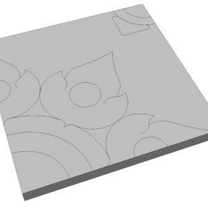 บล็อกปูพื้น เอสซีจี รุ่น La Linear Thai Pattern-สัตตบงกช ขนาด 50x50x6 ซม. สีเทา