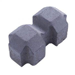บล็อกปูพื้น เอสซีจี รุ่น Cubic Turf ขนาด 10 x 20 x 8 ซม. สีเทา