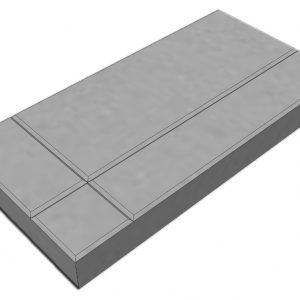 บล็อกปูพื้น เอสซีจี รุ่น La Linear Graphic Pattern 2 ขนาด 30x60x6 ซม. สีเทา