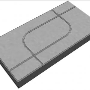 บล็อกปูพื้น เอสซีจี รุ่น La Linear Graphic Pattern 3 ขนาด 30x60x6 ซม. สีเทา