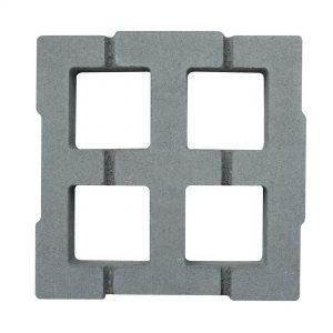 บล็อกปูพื้น เอสซีจี รุ่น Square Turf 30x30x8 ซม. สีเทา