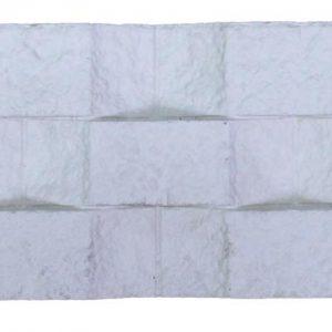 กระเบื้องคอนกรีตตกแต่งผนัง เอสซีจี รุ่น ทรูเซนเซชั่น ทรีโอ้ ขนาด 10X50X3 ซม. สีขาว