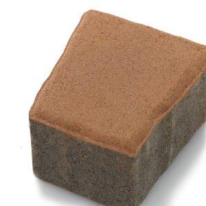 บล็อกปูพื้น เอสซีจี รุ่น Cobble Stone TZ-1 ขนาด 12X11.18 X 6 ซม. สีมอคค่า บราวน์