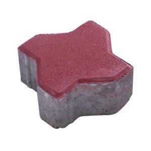 บล็อกปูพื้น เอสซีจี รุ่น Uni mini ขนาด 11.25 x11.25 x 6 ซม. สีแดง